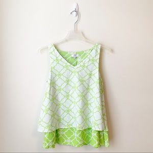 NEW - Crown & Ivy - Lime Green Layered Tank - XS